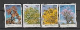 Inde 1981 Arbres Série 678-82 4 Val ** MNH - Neufs