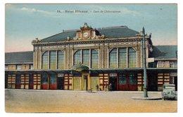 CPSM Colorisée Saint Etienne 42 Loire Gare De Châteauroux Vieux Tacot éditeur Ch Huot Rue Villeboeuf N°24 - Saint Etienne