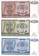 B16 - BOSNIE Lot De 3 Billets De 1992 - Bosnie-Herzegovine