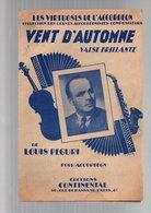 Partition Vent D'automne Valse Brillante - Les Virtuoses De L'accordéon De Louis Peguri En 1944 - Partitions Musicales Anciennes