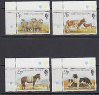Falkland Islands 1981 Farm Animals 4v (corners)  ** Mnh (41746C) - Falklandeilanden