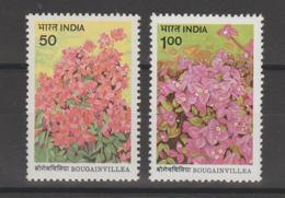 Inde 1985 Flore Bougainvillés Série 838-39 2 Val ** MNH - Neufs