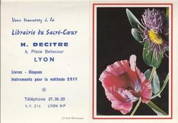 Calendriers : Librairie Du Sacré-coeur - H. DECITRE : Fleurs - ( 2 Volets ) 1971 - Calendriers