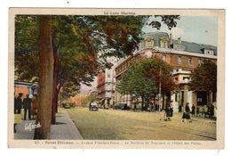 CPSM Colorisée Saint Etienne 42 Loire Avenue Président Faure Pavillon Tourisme Hôtel Des Postes éditeur J Lafond N°43 - Saint Etienne