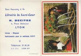 Calendriers : Librairie Du Sacré-coeur - H. DECITRE : Alsace - ( 2 Volets ) 1971 - Calendriers