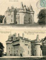 Lot De 4 CPA - SIBIRIL - Château De Kérouzéré - France