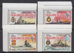 Falkland Islands 1974 Battle Of The River Plate 4v  (corners) ** Mnh (41746A) - Falklandeilanden