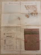6) TOSCANA GROSSETO ORBETELLO FOGLIO 26 CARTA D'ITALIA DEL TOURING CLUB COMPLETO DI INDICE E BUSTA - Geographical Maps