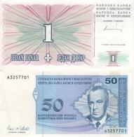 B17 - BOSNIE Lot De 2 Billets - Bosnie-Herzegovine