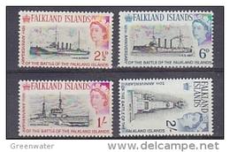 Falkland Islands 1964 Battle Of The Falklands 4v ** Mnh (41738B) - Falklandeilanden