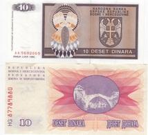 B18 - BOSNIE Lot De 2 Billets - Bosnie-Herzegovine