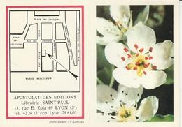 Calendriers : Librairie Saint-paul - Fleurs - ( 2 Volets ) 1971 - Calendriers