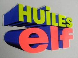 Autocollant - HUILES - ELF  - 15 X 11 Cm - Petit Format - - Stickers
