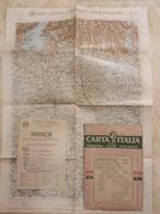 6) VENETO VERONA FOGLIO 12 CARTA D'ITALIA DEL TOURING CLUB COMPLETO DI INDICE E BUSTA - Geographical Maps