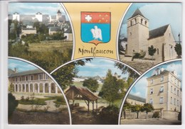 46 MONTFAUCON Multivue Avec écusson ,armoirie, De La Ville - Other Municipalities