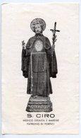 Portici (Napoli) - Santino Antico SAN CIRO Medico, Eremita E Martire - P92 - Religione & Esoterismo