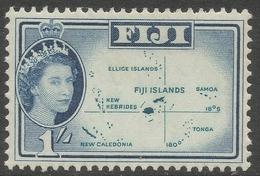Fiji. 1962-67 QEII. 1/- MH. Block CA W/M SG 317 - Fidji (...-1970)