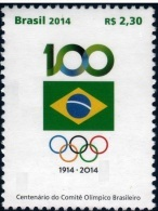 BRAZIL 2014  -  CENTENARY OF THE BRAZILIAN OLYMPIC COMITTEE - Brazil