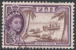 Fiji. 1954-59 QEII. 3d Used. SG 285 - Fiji (...-1970)