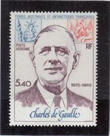 VV1 - TAAF PA 61 ** MNH De 1980 - CHARLES De GAULLE - - Terres Australes Et Antarctiques Françaises (TAAF)