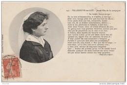 R15-47)  VILLENEUVE SUR LOT -  JEUNE FILLE DE LA CAMPAGNE + POEME DE PAUL FROUMENT - Villeneuve Sur Lot