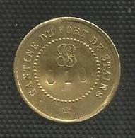 Jeton Militaire - Cantine Du Fort De Stains - 5 Centimes - Monnaie De Nécessité Numérotée 910 - Monétaires / De Nécessité