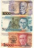 B20 - BRESIL Lot De 3 Billets - Brazil
