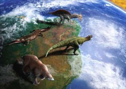 BRAZIL 2014  -  PREHISTORIC ANIMALS OF BRAZIL - DINOSAURS - OFFICIAL  POSTCARD - Brazil