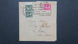 Affranchissement 9 Ct Type Semeuse Sur Bande Journal écho De La Timbrologie Amiens Pour Le Havre  1935 - Postmark Collection (Covers)