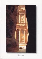 Jordan PPC Petra - The Siq (Purple Cds.) PETRA TUR P.O. Sent To Denmark Hijaza Railway Museum Stamp (2 Scans) - Jordanien
