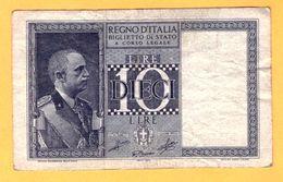 10 LIRE, BIGLIETTO DI STATO - 1944  - Pick 25c - Italia – 10 Lire