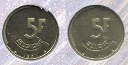5 Frank 1991 Frans+vlaams * Uit Muntenset * FDC - 1951-1993: Baudouin I