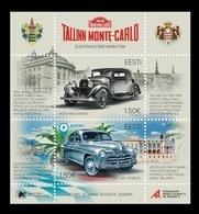 Estonia 2018 Mih. 932/33 (Bl.45) Electric Marathon Tallinn - Monte-Carlo. Cars Hotchkiss And Pobeda MNH ** - Estonie