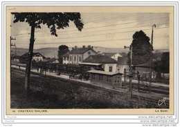57) Château Salins (Moselle) La Gare - (animée - Train) - Chateau Salins