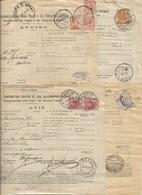 Regno Lotto #4 Avvisi Ricezione / Pagamento 1912/23 Con Diverse Affrancature - Storia Postale