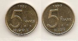 5 Frank 1997 Frans+vlaams * Uit Muntenset * FDC - 1993-...: Albert II