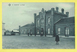 * Ninove (Oost Vlaanderen) * (SBP, Nr 8) La Gare, Railway Station, Bahnhof, Statie, Animée, Rare, Old, Straatzicht - Ninove