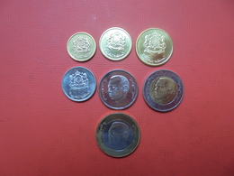 MAROC 2002-2017 SERIE 7 MONNAIES UNC+ BI-COLOR - Mezclas - Monedas