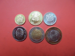 MAROC 2002-2017 SERIE 6 MONNAIES UNC+ BI-COLOR - Mezclas - Monedas