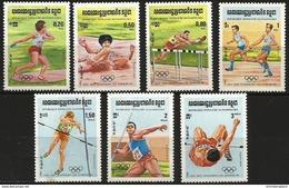 Kampuchea (Cambodia) - 1984 Olympics Set Of 7 MNH **   Sc 488-94 - Cambodge