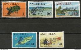 Anguilla - 1969 Christmas Set Of 5  MNH **  Sc 78-82 - Anguilla (1968-...)