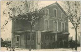 78 MAISONS LAFFITTE. Café Restaurant De La Forêt 1909 Par Augel Belle Animation Sur La Neige - Maisons-Laffitte