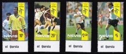 NEVIS 1990 CALCIO GIOCATORI COPPA DEL MONDO - St.Kitts E Nevis ( 1983-...)
