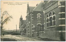 80 ROYE. Ecole Communale De Garçons Et Chapelle 1928 - Roye