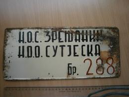 SPECIAL VEHICLE RETRO LICENSE PLATE SERBIA Yugoslavia SUTJESKA NUMMERNSCHILD WW2 LIBERATION SOC PLAQUE D'IMMATRICULATION - Plaques D'immatriculation