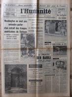 Journal L'Humanité (5 Sept 1966) Procès Ben Barka - Jean Lurçat - Mort Cécile Sorel - Muriel Belmondo - Newspapers