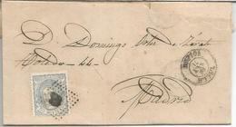 ENVUELTA DE LILLO TOLEDO A MADRID 1871 - Cartas
