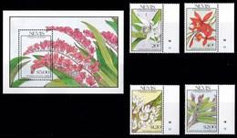 NEVIS 1990 ORCHIDEE - St.Kitts E Nevis ( 1983-...)