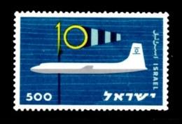 ISRAEL, 1959, Unused Hinged Stamp(s ) ,  Civil Aviation, SG Number 165, Scannumber 17334 - Israel
