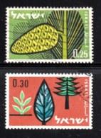 ISRAEL, 1961, Used Stamp(s ) Without Tab, Afforestation, SG Number 220-221, Scannumber 17348 - Israel
